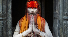 Sadhu in Pashupatinath Temple