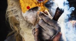 Sadhu with Pot in Kathmandu