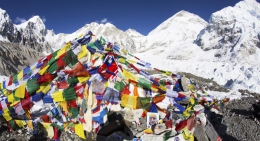 Colorful-Prayer-Flags at-the-Base-Camp