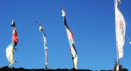 Buddhist-prayer-flags-fluttering