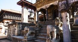 Stone Temple in Kathmandu