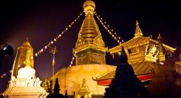 Swyambhunath-Temple-glowing