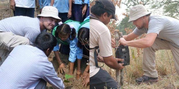 Leonardo DiCaprio Visits Nepal for Tigers