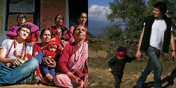 Orlando Bloom Visits Nepal