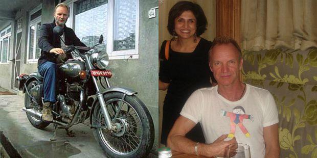 Singer Sting in Nepal